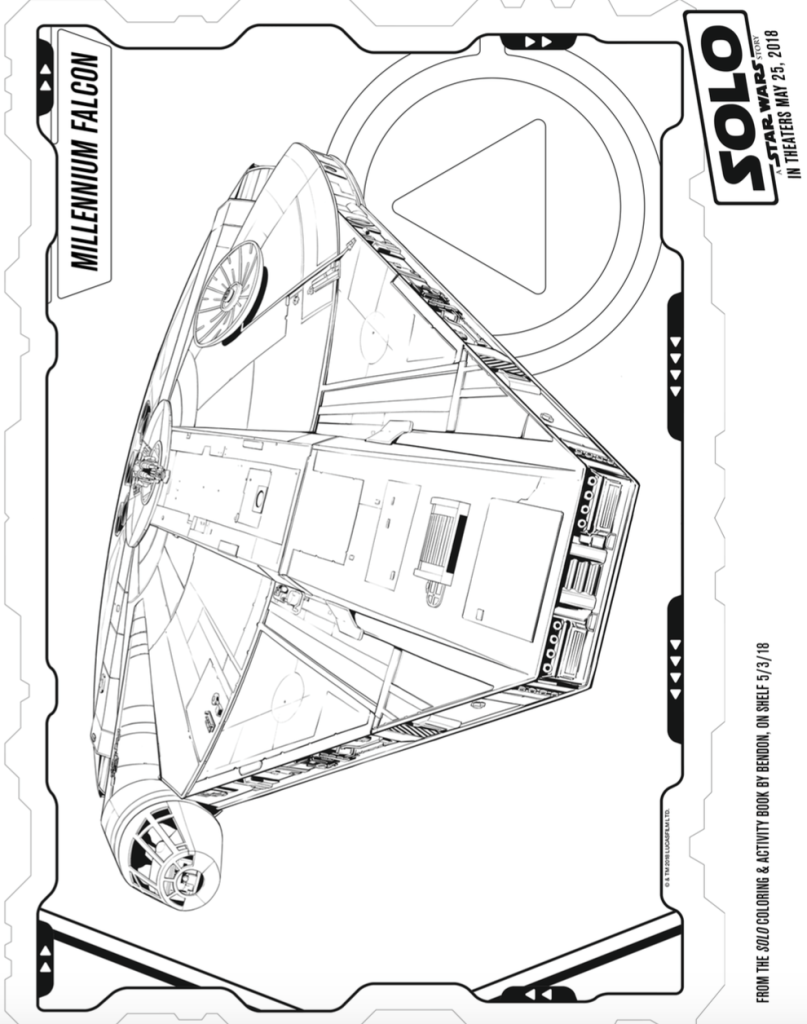 Han Solo A Star Wars Story Coloring Sheets millennium Falcon