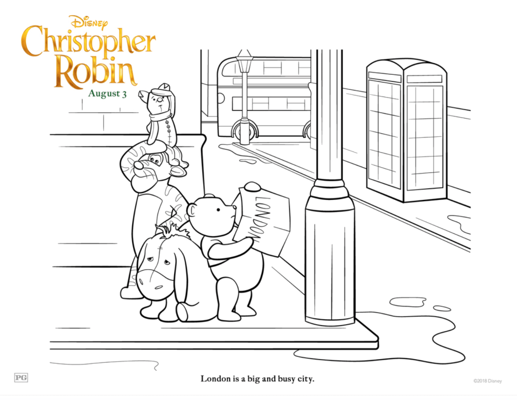 Free Christopher Robin Coloring Pages and Activity Sheets - Simply ...
