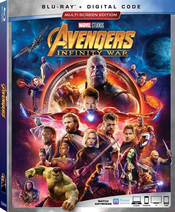 Avengers: Infinity War Blu-Ray and Digital Movie Release