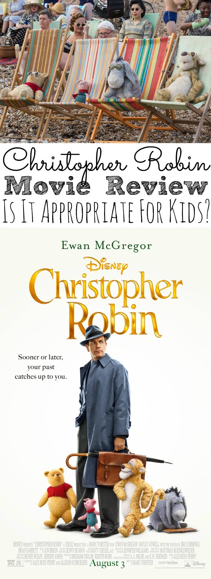 Christopher Robin Movie Review | Is It Appropriate For Kids? Is Disney's new live-action film Christopher Robin appropriate for kids and families to watch? I have a no spoiler Christopher Robin movie review for kids. #ChristopherRobin - simplytodaylife.com