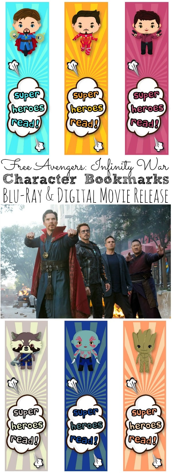 Free Avengers: Infinity War Bookmarks | Plus Digital and Blu-Ray Movie Release - simplytodaylife.com