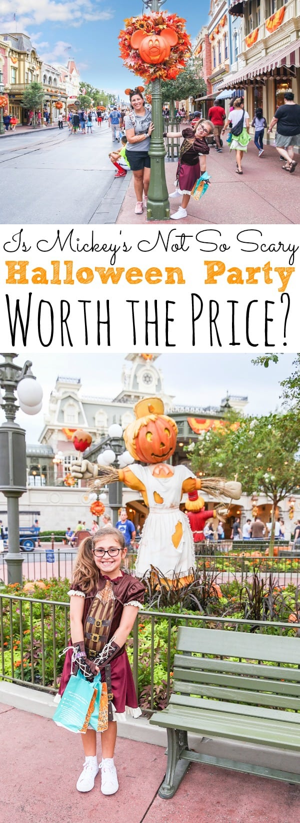 Have you ever thought about visiting Walt Disney World for Mickey's Not So Scary Halloween Party? Do need to know if it's worth the price? Well, I'm sharing with you all that is included in your admission for Mickey's Not So Scary Halloween Party and if it's worth the price for your family! - simplytodaylife.com #MNSSHP #NoSoScary #MickeysNotSoScaryHalloweenParty #HalloweenatDisney #WDW #WaltDisneyWorld #MagicKingdom #DisneyHalloween #HalloweenatDisney #Florida #Orlando #FamilyTravels #TravelingwithKids #Travels #Family #DisneyTips #DisneyTravels #Disney