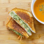 Gluten Free Veggie Mozzarella Pesto Grilled Cheese Sandwich
