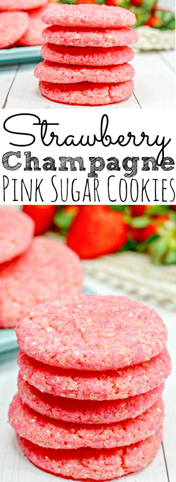 Strawberry Champagne Sugar Cookies