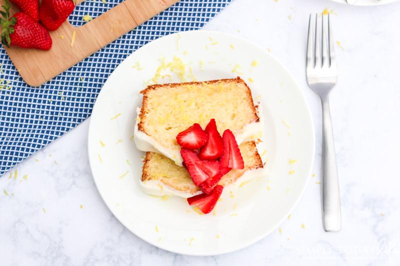 Easter Lemon Cream Cheese Pound Cake