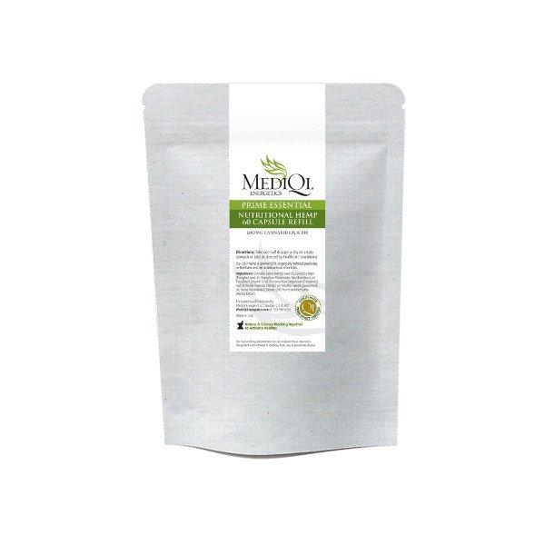 MediQI Prime Essential Nutritional Hemp Capsules Refill (60 capsules)