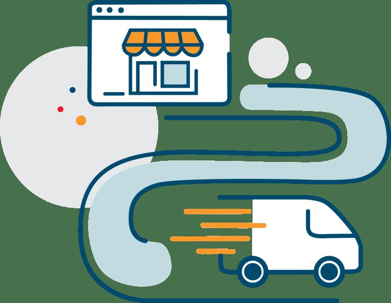 ecommerce delivery van