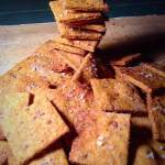 Whole wheat flour and flax seeds crackers