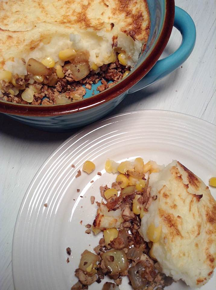 Vegan french canadian shepherd pie