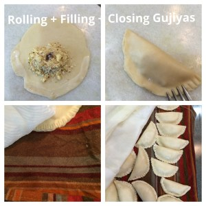 Gujiya is also known as Karanji and is a popular Festival Dessert from India. It is made for Holi and Diwali. It is like empanada or hand pies. The filling has milk solids and nuts. #gujiya #gujia #karanji #handpies #empanadas #holidessert #diwalidessert #indiandessert #holirecipes