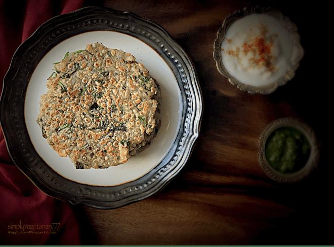 Paneer Sabudana Thalipeeth / Cheese Sago Flat Breads, Gluten Free