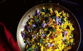 Indori Poha {GlutenFree + Vegan}