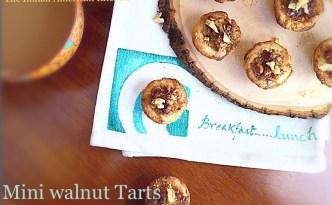 Walnut Dessert Tartlets with Tart Dough Recipe.