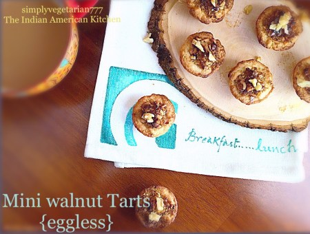 Walnut Dessert Tartlets with Tart Dough Recipe.