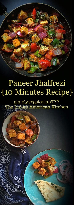 Paneer Jhalfrezi 10 Minutes Recipe