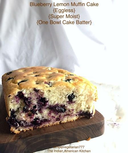 Blueberry Lemon Muffin Cake