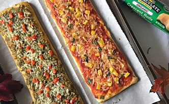 Pesto Marinara Crescent FlatBreads {Immaculate Baking Co.}