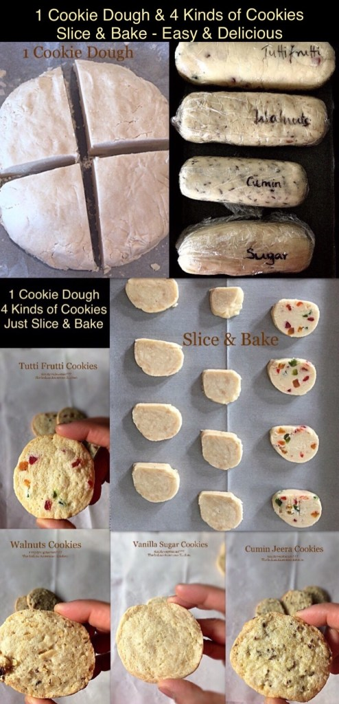 1 Basic cookie Dough 4 Different Cookies