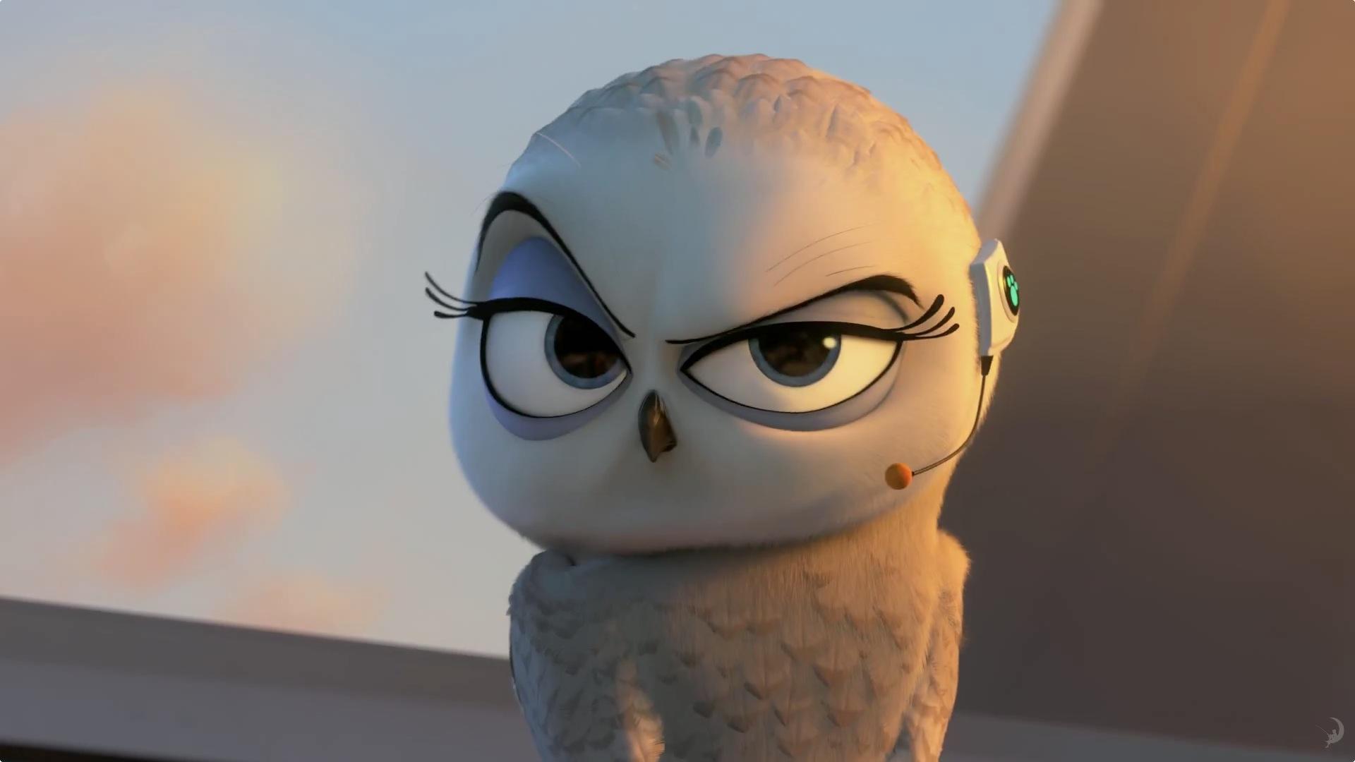 The Penguins Of Madagascar Eva The Owl Desktop Wallpaper