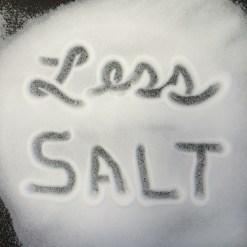 less salt
