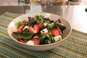 Strawberry, Walnut and Mozzarella Salad