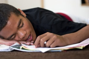 teen sleeping
