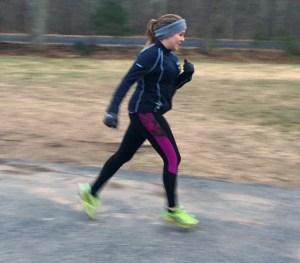 running outside winter