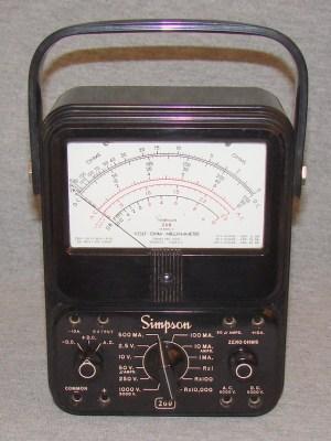 Simpson 2605  Volt  Ohm  Milliammeter