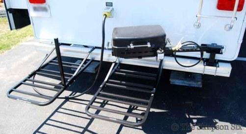 bike rack and grill