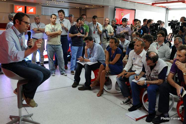 Stefano Domenicali with media journalists