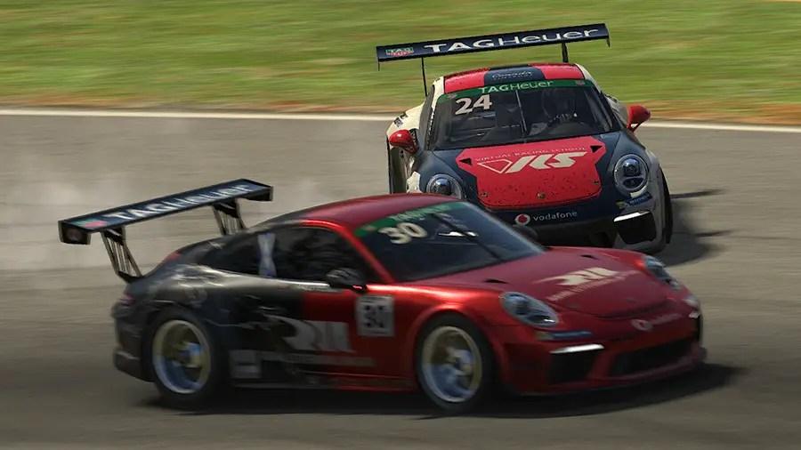 iRacing Porsche Supercup: Rogers wins Atlanta after last lap incident