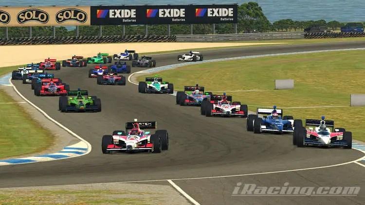 2021 Classic Indycar Series Round 1 Phillip Island start