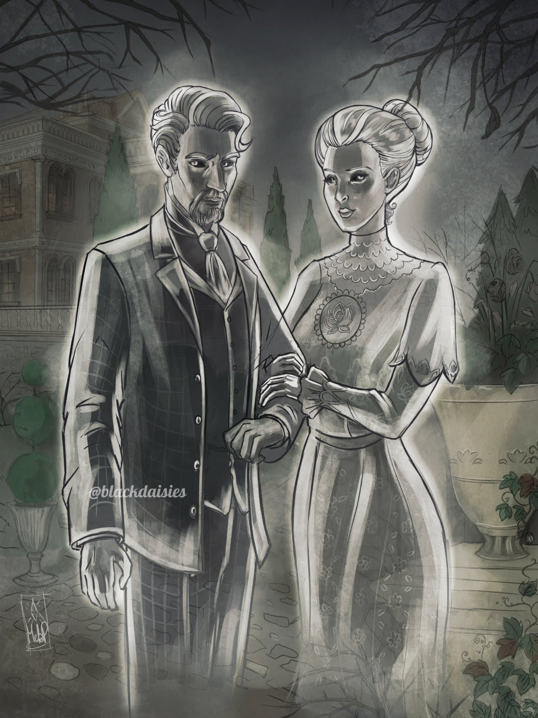 Sims 4 Fan Art - The Von Haunts by Blackdaisies