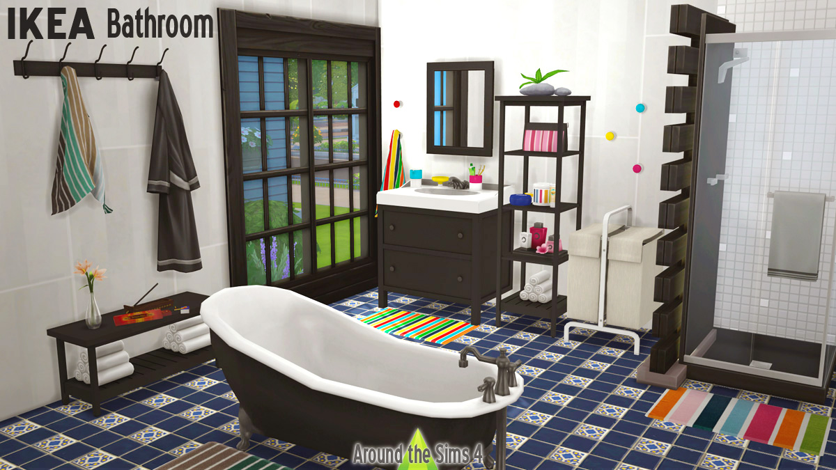 Around The Sims 4 Custom Content Download Ikea Bathroom