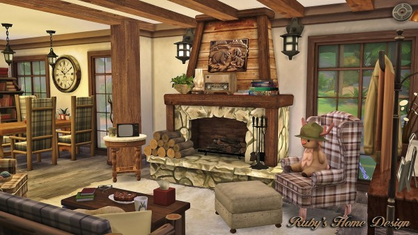 Rubys Home Design Forest Cabin Sims 4 Downloads
