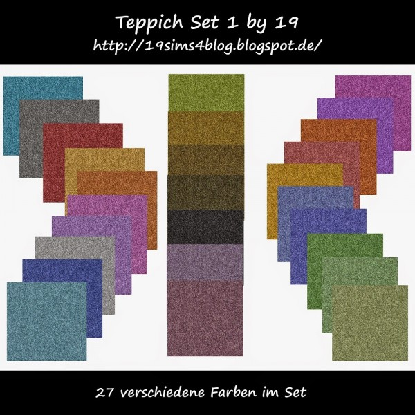 19 Sims 4 Blog Carpet Set 01 Sims 4 Downloads