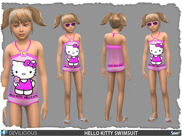 The Sims Resource Hello Kitty Swimsuit By Devilicious