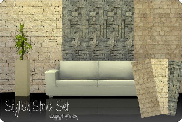 Xmisakix Sims Wood And Stone Wall Sets Sims 4 Downloads