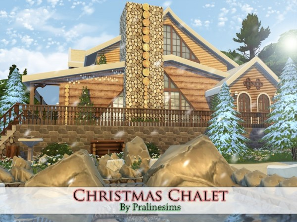 The Sims Resource Christmas Chalet By Pralinesims Sims 4 Downloads