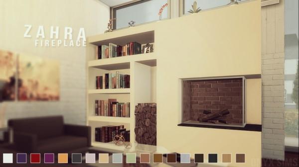Onyx Sims Zahra Fireplace Set Sims 4 Downloads