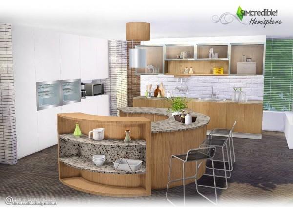 SIMcredible Designs Hemisphere Kitchen Sims 4 Downloads