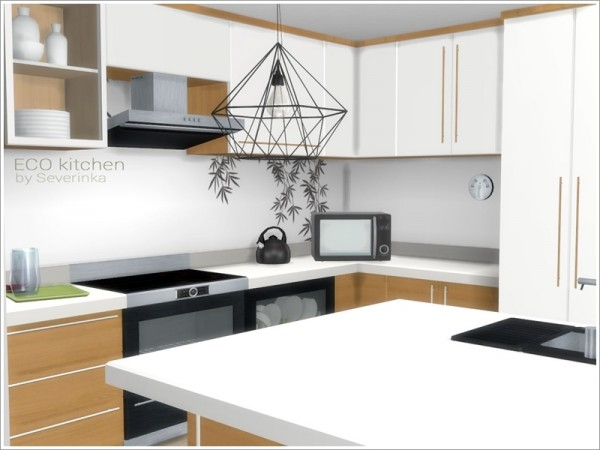 The Sims Resource ECO Kitchen By Severinka Sims 4 Downloads