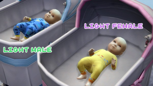 Mod The Sims Maxis Match Newborn Baby Sleepers By 1gboman