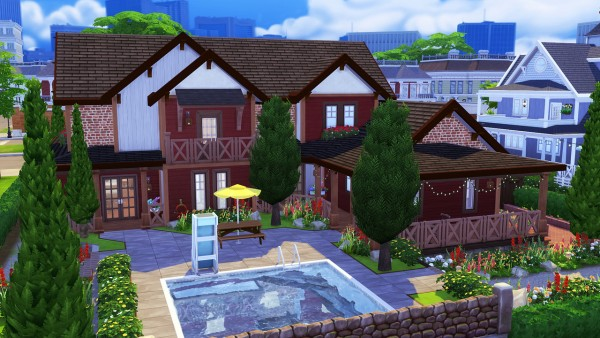 Aveline Sims Warm Rustic Family Home Sims 4 Downloads