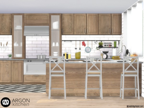 The Sims Resource Argon Kitchen By Wondymoon Sims 4