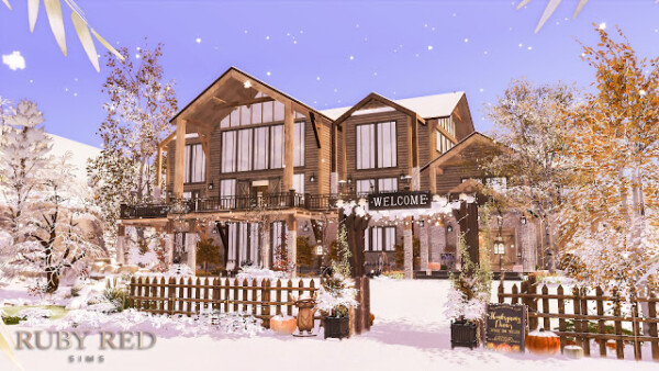 The Alpine Chalet Resort From Ruby S Home Design Sims 4 Downloads