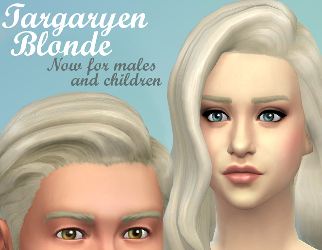 Sims 4 Hairs Mod The Sims Targaryen Blonde Hairstyle By
