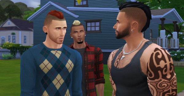 Sims 4 Hairs Lumia Lover Sims Short Punk Hawk Hairstyle