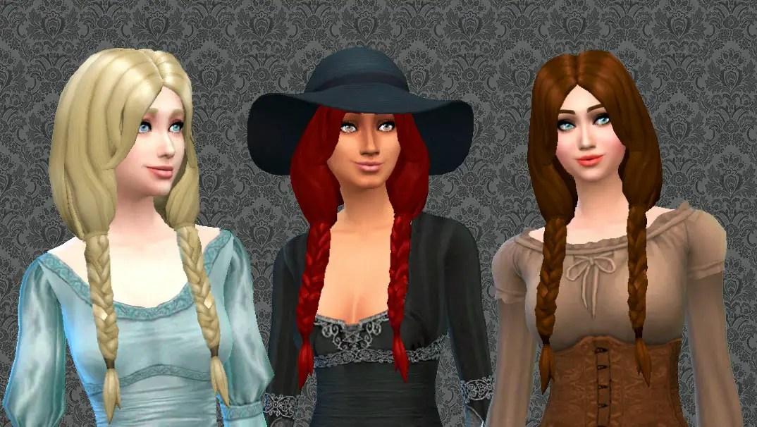 Sims 4 Hairs Mystufforigin Braiding Hairstyle