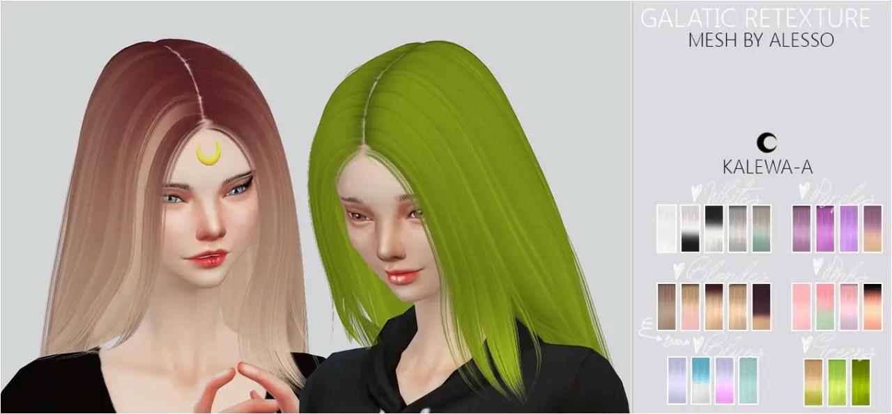 Sims 4 Hairs Kalewa A Galatic Hairstyle Retextured